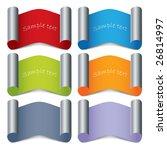 folded color labels   Shutterstock .eps vector #26814997