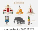 travel thailand .vector  | Shutterstock .eps vector #268152572