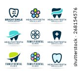 dental icons. stomatology  4  | Shutterstock .eps vector #268154576