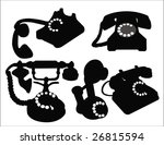 Set Of Old Phone Vector