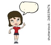 cartoon woman with speech bubble | Shutterstock .eps vector #268159676