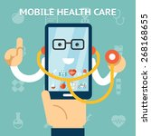mobile health care and medicine ... | Shutterstock . vector #268168655