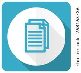 document blue flat icon pages... | Shutterstock . vector #268168736