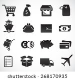 commerce and delivery icon set. ... | Shutterstock .eps vector #268170935