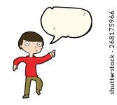 cartoon boy pointing with... | Shutterstock .eps vector #268175966