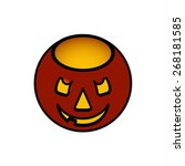 a simple jack o lantern candle... | Shutterstock .eps vector #268181585