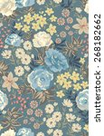 seamless floral pattern in...   Shutterstock .eps vector #268182662
