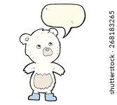 cartoon cute little bear with... | Shutterstock .eps vector #268183265