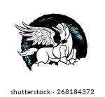 vector unicorn | Shutterstock .eps vector #268184372