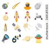space  illustration series ... | Shutterstock .eps vector #268185302