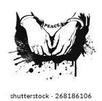 vector hands in handcuffs | Shutterstock .eps vector #268186106