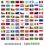 world flags collection  vector... | Shutterstock .eps vector #268194035