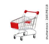 shopping cart isolated on white ... | Shutterstock . vector #268198118