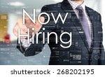 the businessman is choosing now ... | Shutterstock . vector #268202195