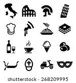 italy icons | Shutterstock .eps vector #268209995