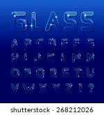 vector glass font  | Shutterstock .eps vector #268212026