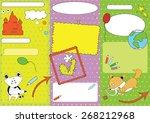 mock up of leaflet for children'... | Shutterstock .eps vector #268212968