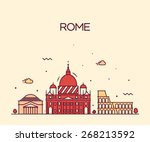Rome City Skyline Detailed...