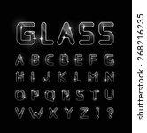 glass font    Shutterstock . vector #268216235