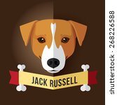 image of a dog's face. jack...   Shutterstock .eps vector #268226588