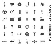set of 36 simple car parts... | Shutterstock .eps vector #268233608