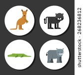 animal cute design  vector... | Shutterstock .eps vector #268236812