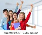 student  high school student ... | Shutterstock . vector #268243832