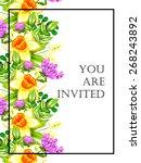 romantic invitation. wedding ... | Shutterstock .eps vector #268243892