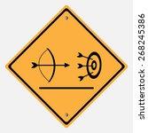 traffic sign . archery arrow... | Shutterstock .eps vector #268245386