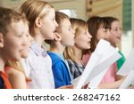 group of school children... | Shutterstock . vector #268247162