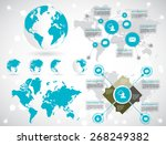 timeline infographic  vector... | Shutterstock .eps vector #268249382
