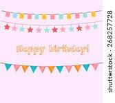 happy birthday typographic... | Shutterstock .eps vector #268257728