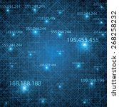 abstract vector futuristic blue ... | Shutterstock .eps vector #268258232
