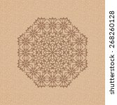 round ornamental element over... | Shutterstock .eps vector #268260128
