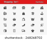 shopping icons. professional ... | Shutterstock .eps vector #268268702