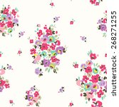 seamless tiny cute flower,floral vector pattern background