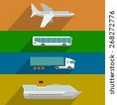 global transportation. plane ... | Shutterstock .eps vector #268272776