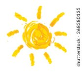 watercolor sun  rays flat icon... | Shutterstock .eps vector #268280135