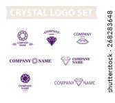 vector classic diamond logo set ...   Shutterstock .eps vector #268283648