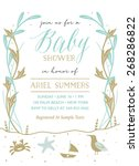 baby shower invitation with... | Shutterstock .eps vector #268286822