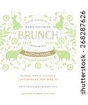 baby shower brunch invitation... | Shutterstock .eps vector #268287626