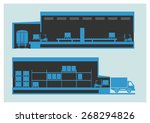 warehouse. the unloading and...   Shutterstock .eps vector #268294826
