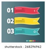 info graphic ribbon number 1 2... | Shutterstock .eps vector #268296962