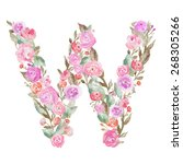 Watercolor Flower Alphabet....