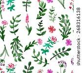 seamless pattern with... | Shutterstock .eps vector #268316138