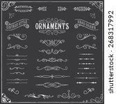chalkboard ornaments  ... | Shutterstock .eps vector #268317992