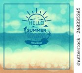 beach  background   Shutterstock .eps vector #268335365