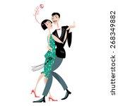 Dancing Couple. Art Deco. Retro....