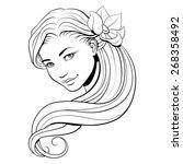 black and white illustration of ... | Shutterstock .eps vector #268358492