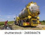 emergency  vacuum truck  for... | Shutterstock . vector #268366676